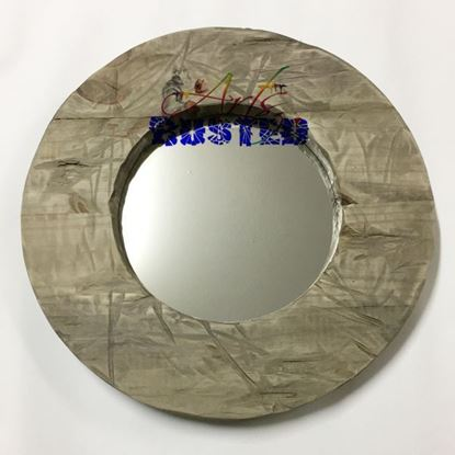 Picture of Mirror (L) Round Wood Frame Picture Size 240mm